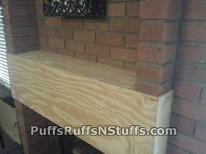 Custom fireplace mantle in progress.