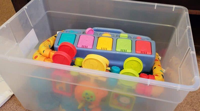 Storing toys in bins
