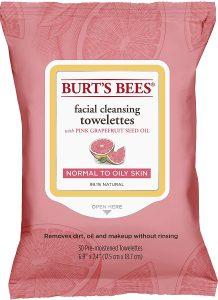 Burt's Bees grapefruit face wipes