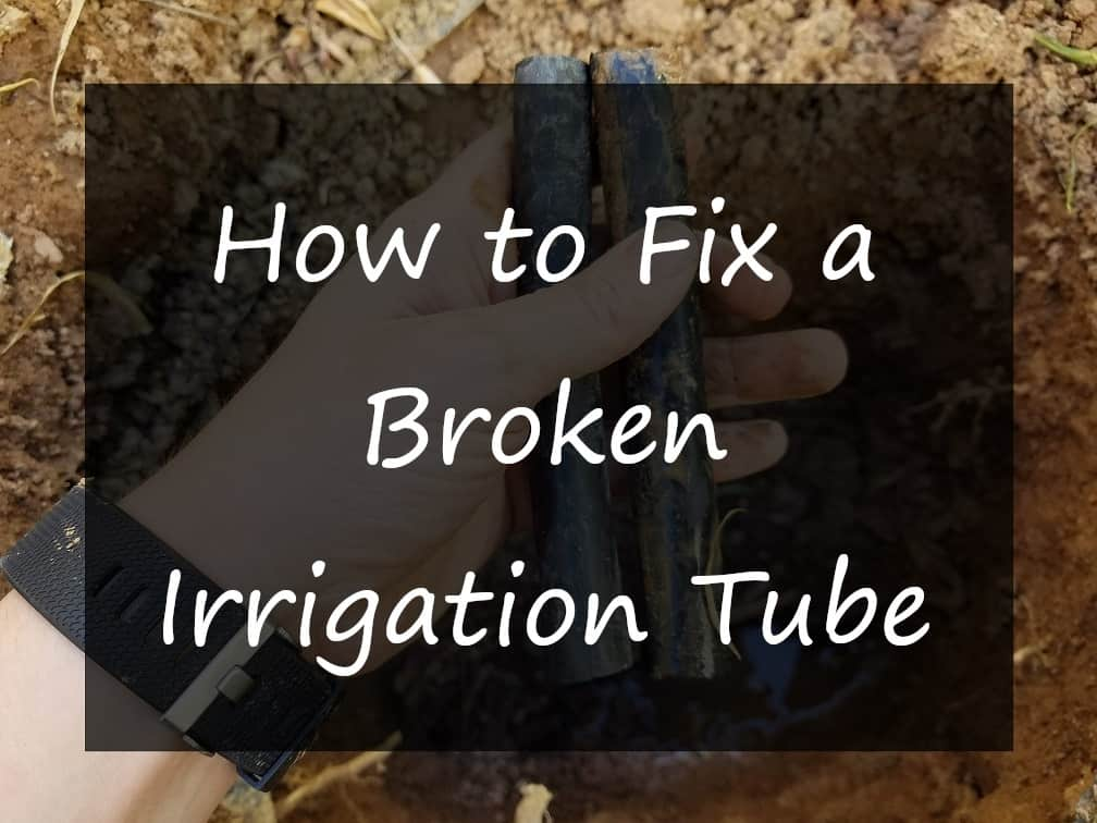 How to fix a Broken Irrigation Tube