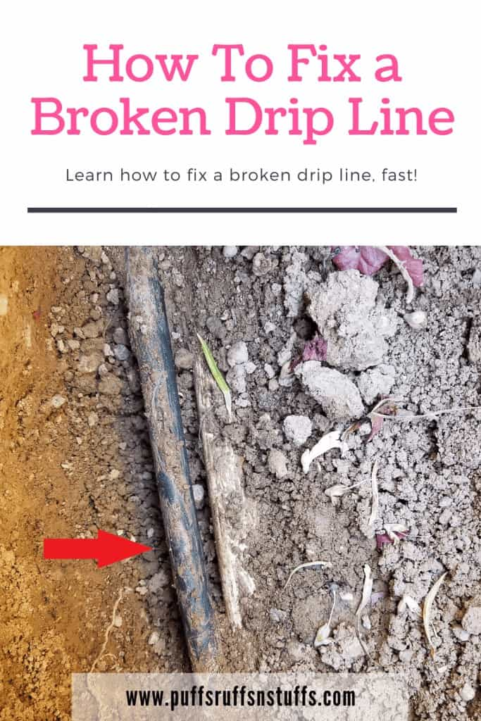 How to fix a broken drip line