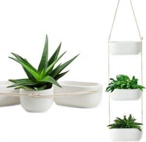 Hanging ceramic cute plant pots.