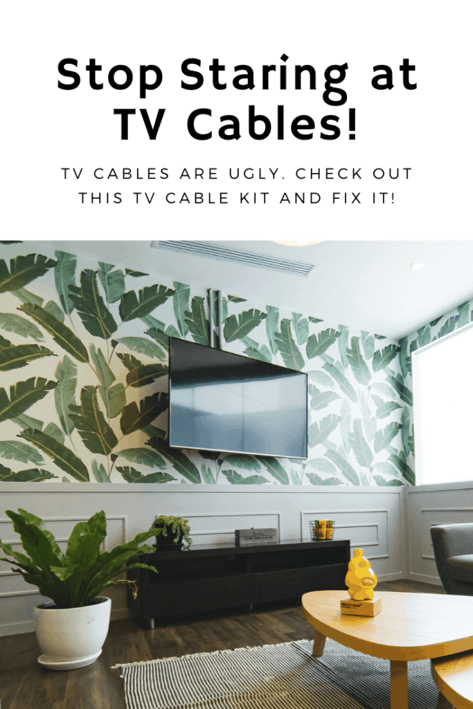The CableClear kit can hide your tv wires in the wall. Cable clear in wall tv cable kit. Houseplant, home decor, moulding, wall mount tv. In wall tv cable kit, cable clear, cable in wall kit, in wall tv cable kit. Wall mount tv cables hider, hidden cables, hide wall mounted tv wires, tv wire hider #AD #HomeDecor #Organization