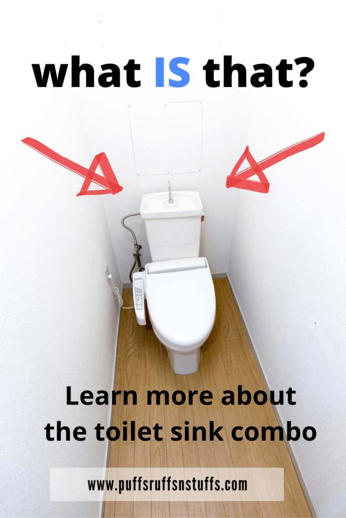What is a toilet sink combo? Learn about a toilet sink combo. Japanese toilet sink combo