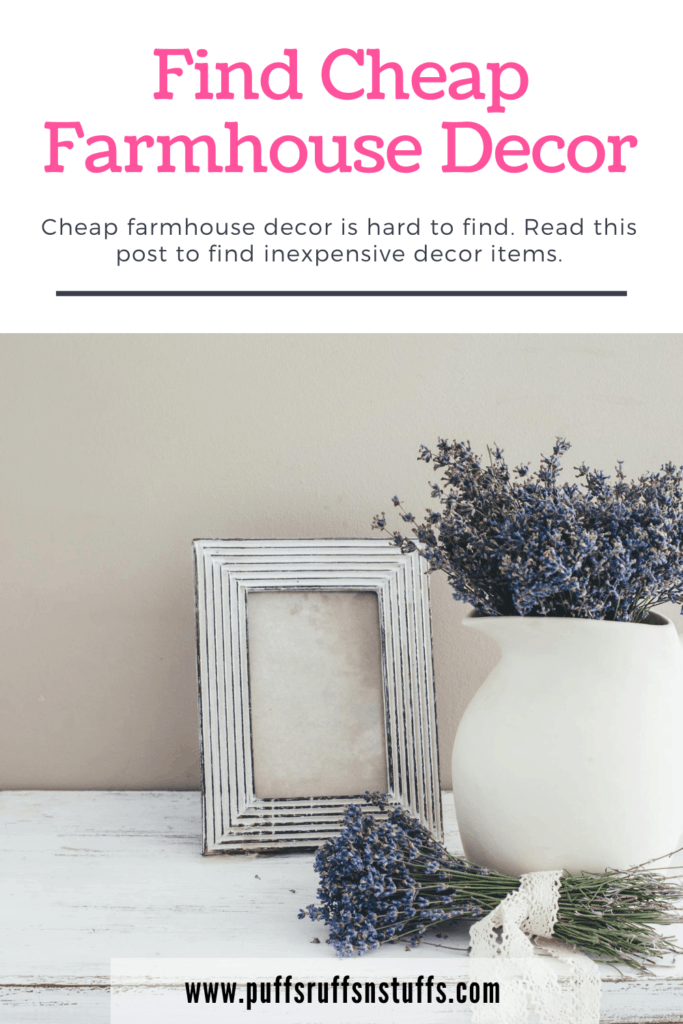 Cheap farmhouse decor is hard to find. There are dirt cheap farmhouse decor items out there. Read this post to find inexpensive decor items.