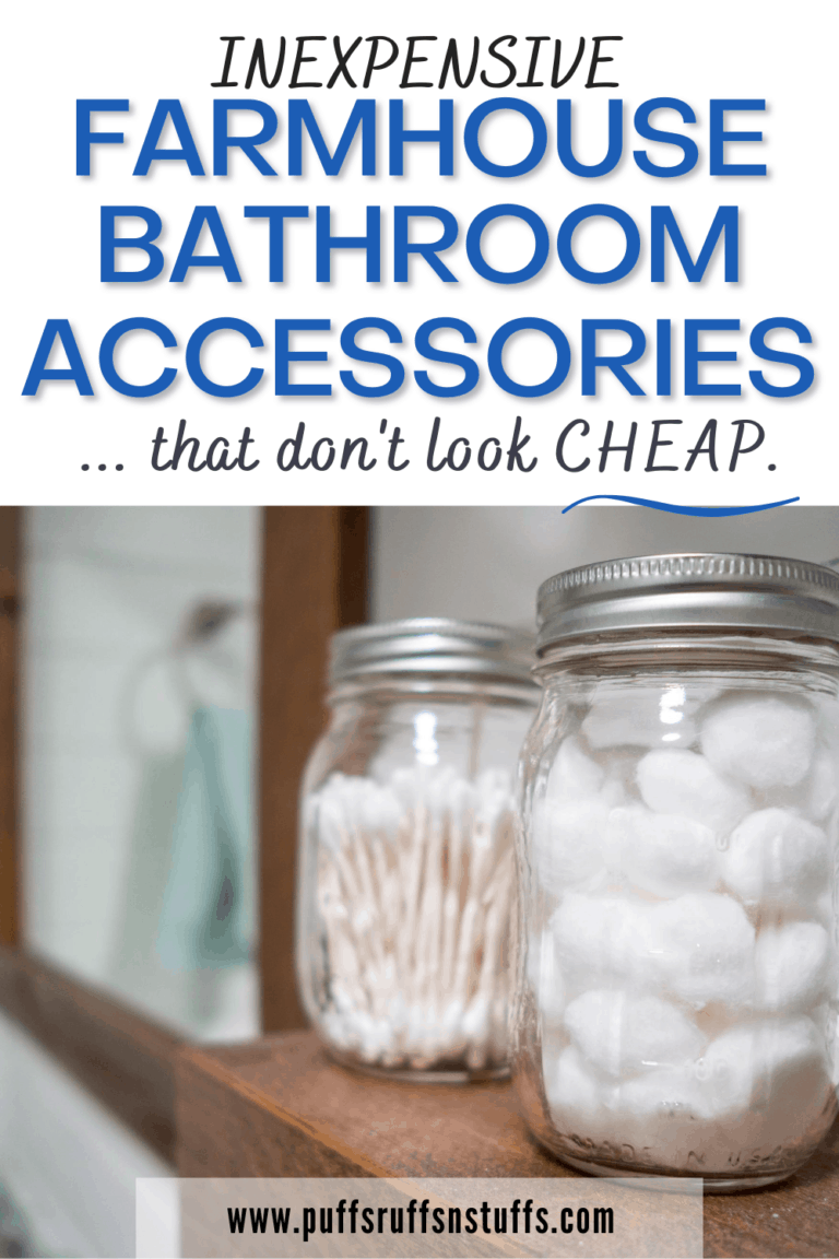 Farmhouse Bathroom Accessories That Are Inexpensive Puffs Ruffs N Stuffs