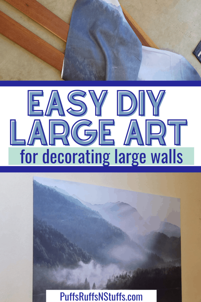 Easy DIY large art for decorating large walls. DIY large wall art, cheap art ideas big wall.